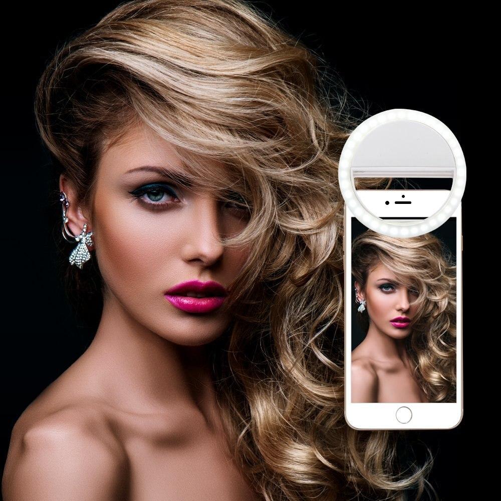WILTEEXS Selfie Anneau Lumière Portable Flash Led Caméra Téléphone Améliorer Photographie pour iphone samsung xiaomi Huawei téléphone intelligent