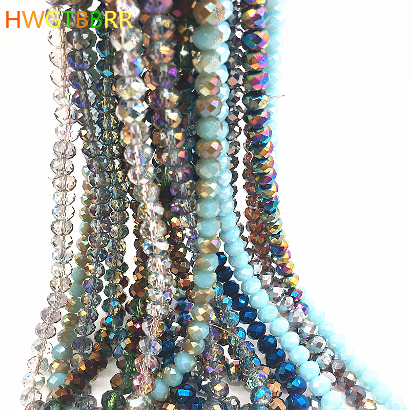 Wholesale Crystal Glass Rondelle Faceted Loose Spacer Beads 6mm 8mm U Pick