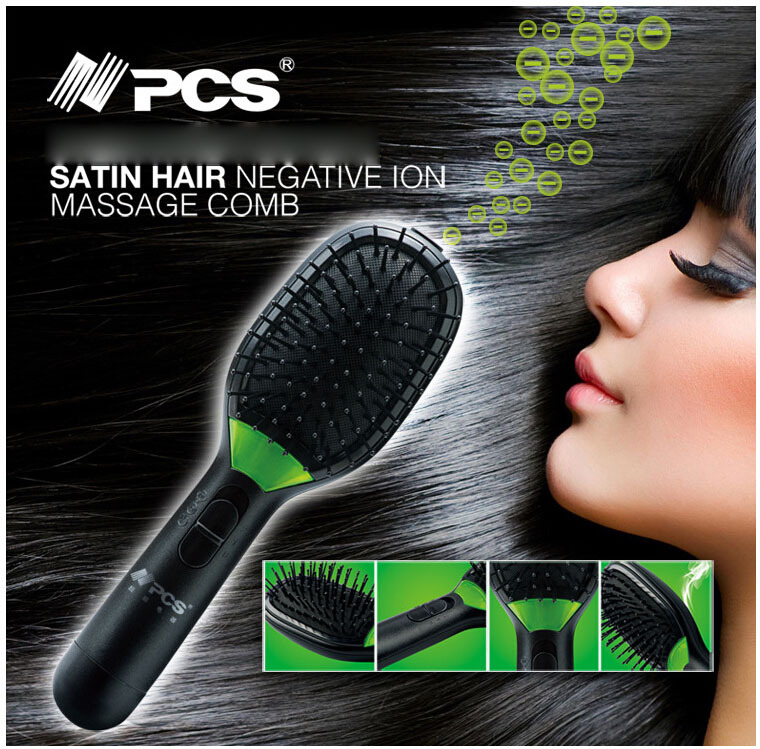 Free shipping PCS hair brush ion with vibration electric massager comb accessories for women