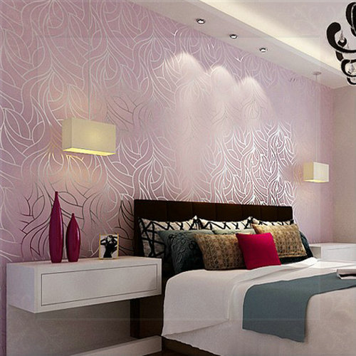 Wallpaper feature wall bedroom ideas for Wallpaper for feature wall living room