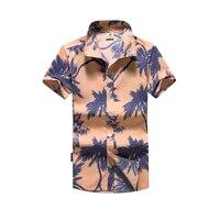 Tailor Pal Love Men Shirts Hawaiian Summer Print Polyester Casual Shirt Mens Short Sleeve Plus Size