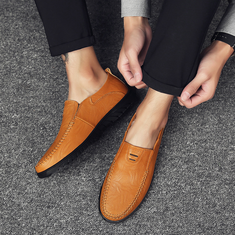 HTB1QYNNaOnrK1Rjy1Xcq6yeDVXay Genuine Leather Men Casual Shoes Luxury Brand Designer Mens Loafers Moccasins Breathable Slip on Driving Shoes Plus Size 37-47