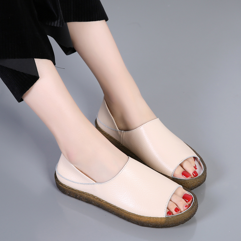 Cuero Urbutifo Sandalias De Mujer Confort Tacón Zapatos Verano Para NOm8wvn0