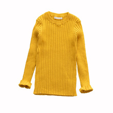 Spring Boys&Girls Sweaters Solid Candy Color Boys Clothes New Knitted Baby Girls Ribbed Sweater Kids Clothing Girls Pullover