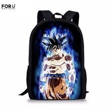 FORUDESIGNS Dragon Ball Super Saiyan Print School Bag Boys C