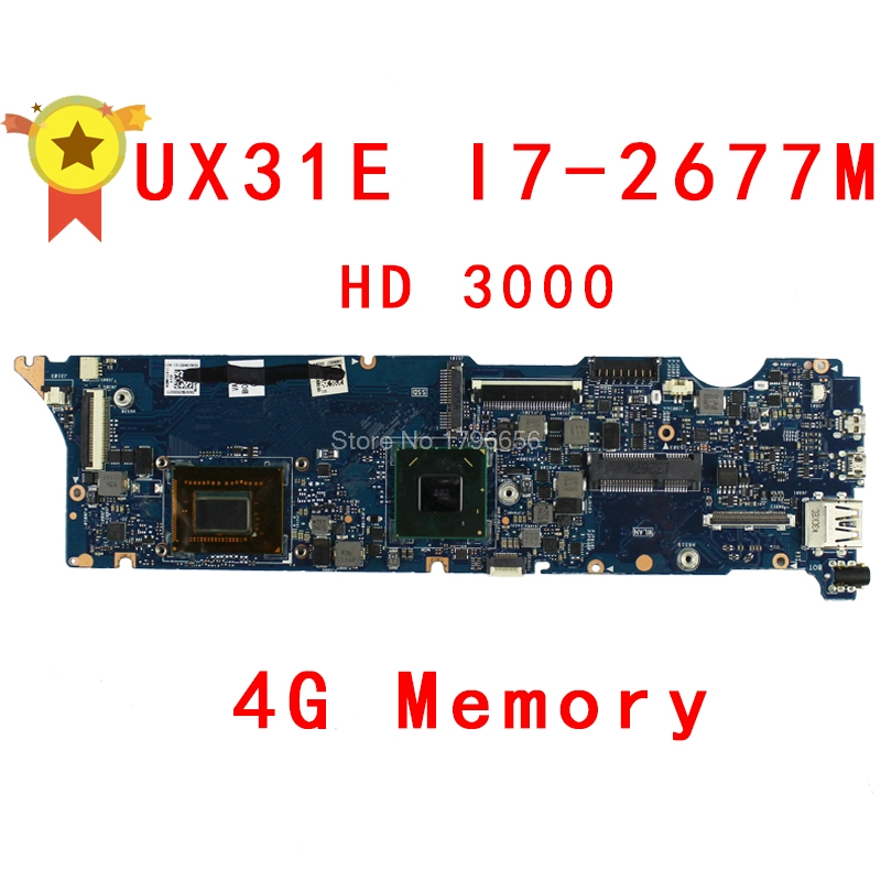 UX31E Motherboard 4GB RAM i7-2677 CPU For ASUS UX31E laptop Motherboard UX31E Mainboard UX31E Motherboard test 100% ok for asus ux31e laptop motherboard with i5 2557m 2 3ghz cpu 4gb ram on board memory maiboard fully tested working well