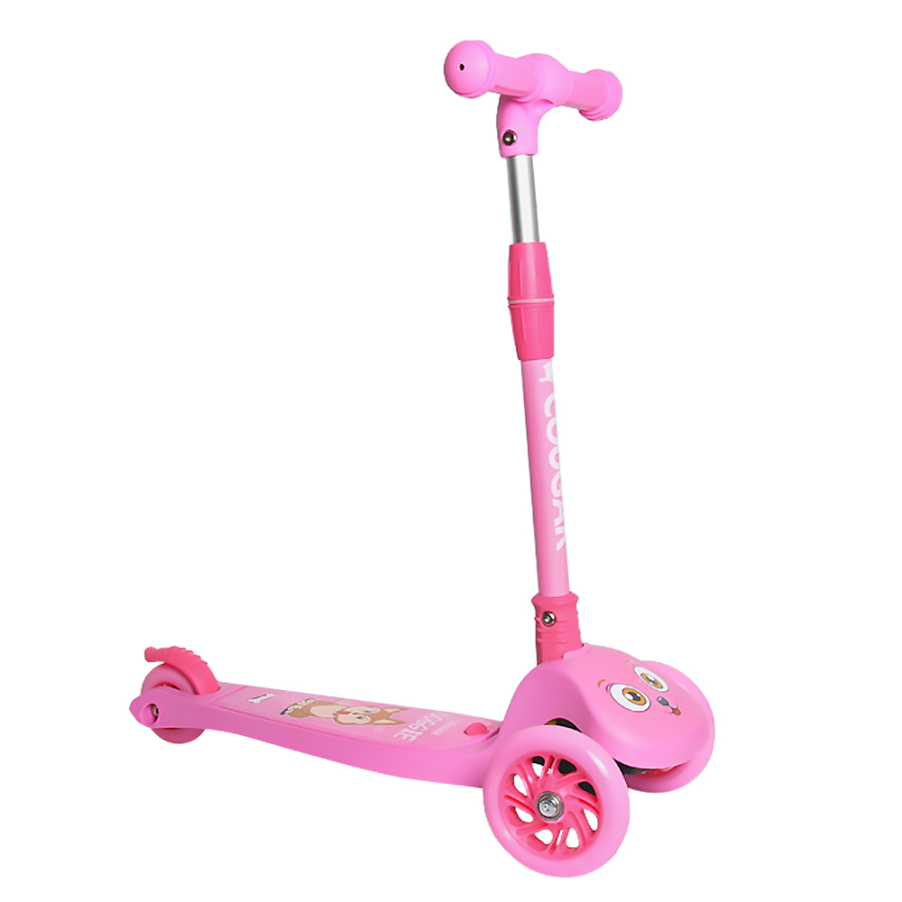Image 2 - 2019 3 Wheels Folding Scooter with Light Up Wheels Adjustable Height for Kids Girls Boys Toys Gifts for Kids Outdoor Toy Scooter-in Skate Board from Sports & Entertainment