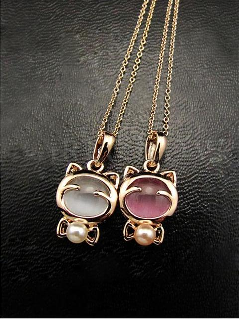 Gold Plated Cat Necklace