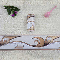 Pastoral Flower Waist Line Stickers Kitchen Bathroom Toilet Wallpaper Border PVC Waterproof Self-adhesive Baseboard Home Decor