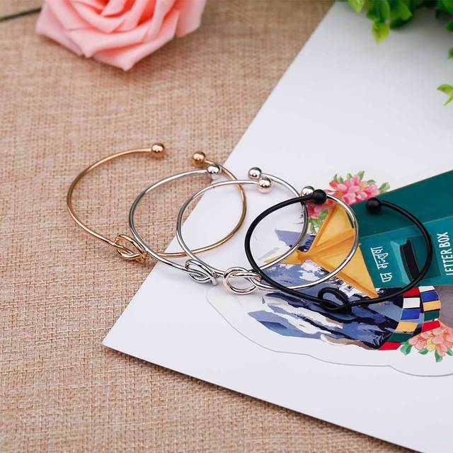 KISS WIFE 4-color original design pure copper casting love knot open metal bracelet bracelet love bracelet 3