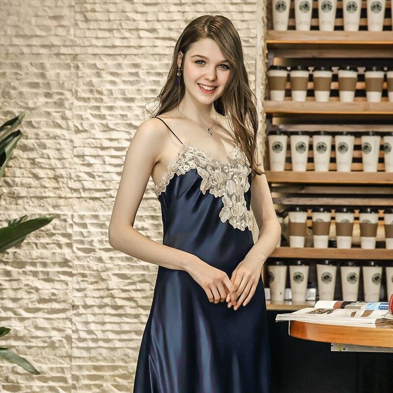 Womens Sexy intimate pyjamas underwear Silky Lingerie Sleepwear Night Gown Bath Robe Lace Babydoll Sleepwear Halter Nightwear