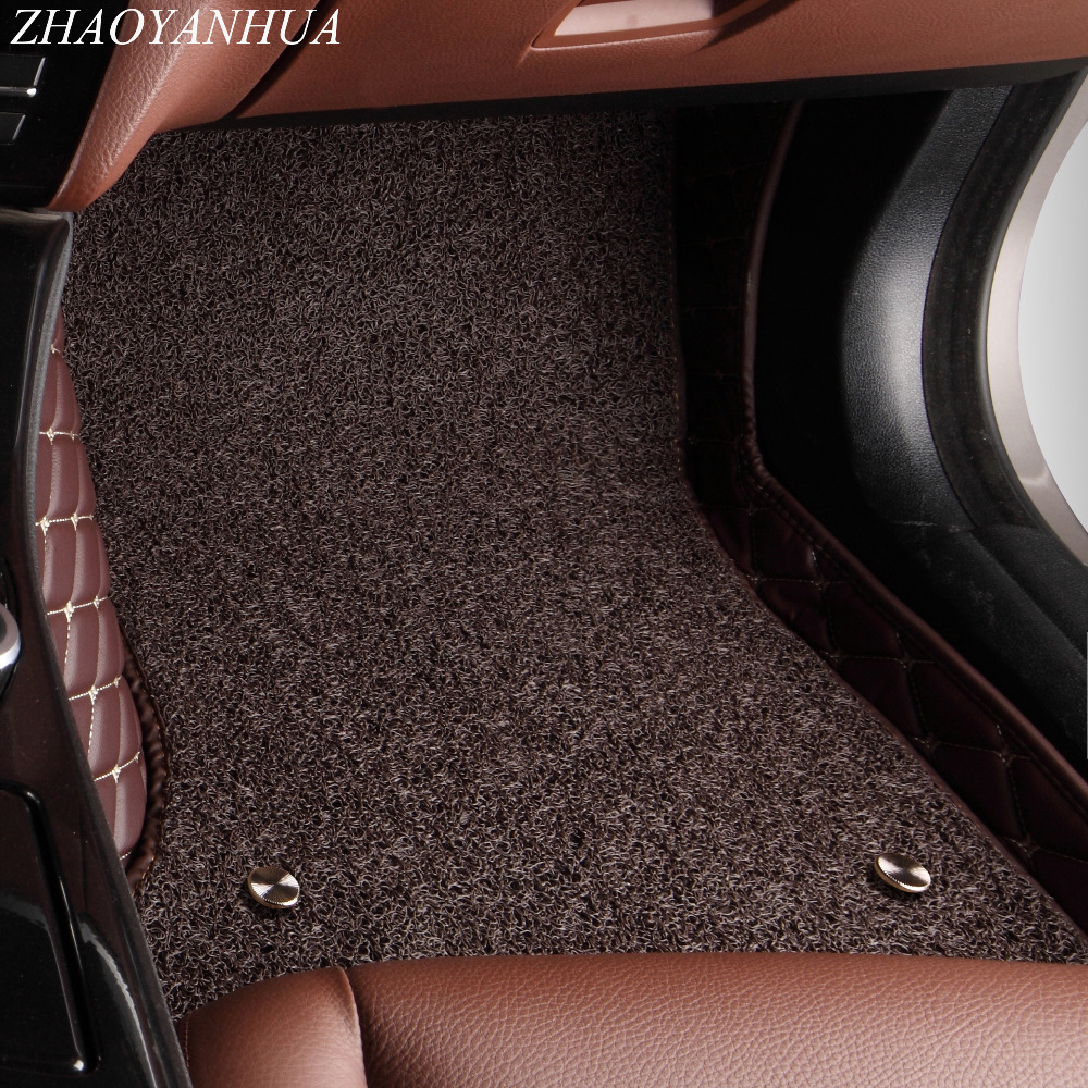ZHAOYANHUA Voiture tapis de sol pour Toyota Land Cruiser 200 Prado 150 120 Rav4 Corolla Avalon Highlander Camry car styling doublures