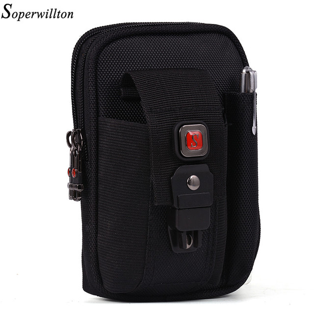 Soperwillton Fanny Pack Hommes Femmes Taille Sac Dropshipping Wateproof  1680D Oxford Taille Packs Mobile Téléphone Sac d9e79cb7d4f