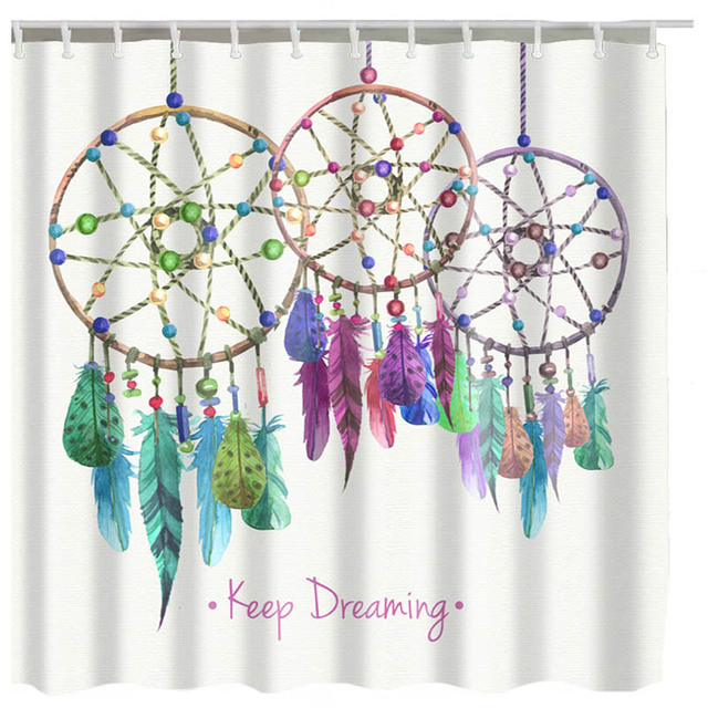 Luxurysmart Dreamcatcher Shower Curtains Custom Design Creative Curtain Bathroom Waterproof Polyester Fabric
