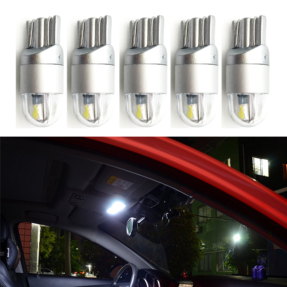 Welback Super Bright Low Power T10 W5W 2 SMD LED Bulbs for Car Interior Dome Map Door Courtesy License Plate Lights Xenon White