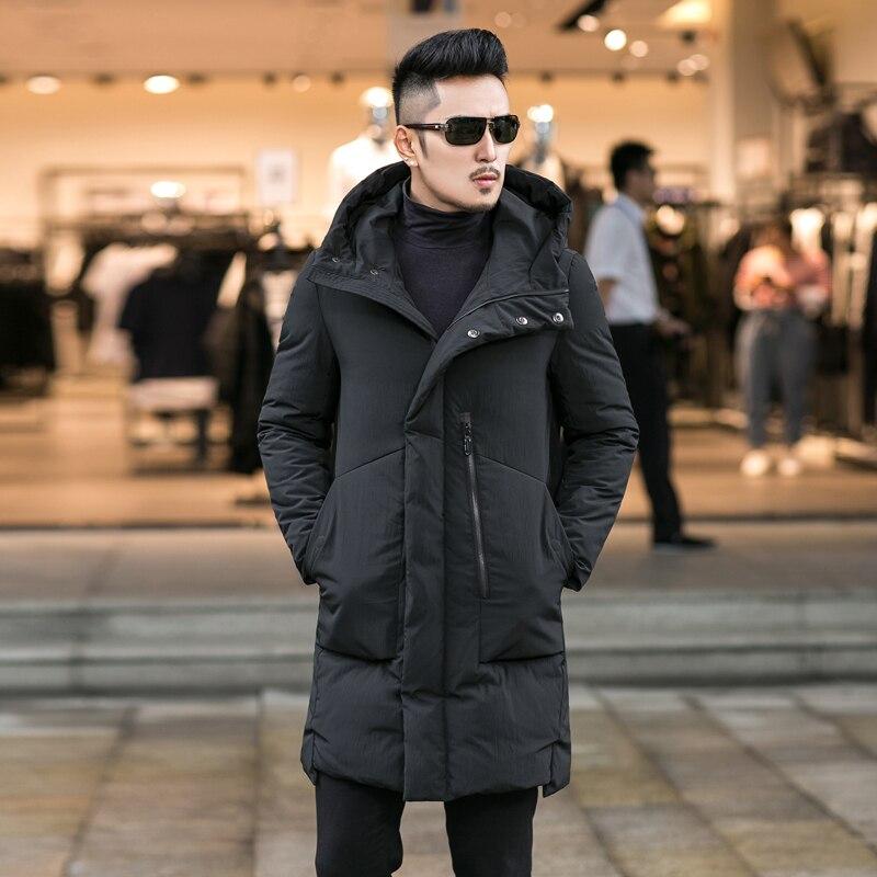 2017 New Fashion Winter Jacket Men Snow Hooded Warm Coats Parkas Men Plus Size Thick Long Solid Men's Winter Jackets 4XL 2017 new fashion winter jacket men hooded warm coats parkas men thick long solid zipper men s winter jackets plus size 7xl 8xl
