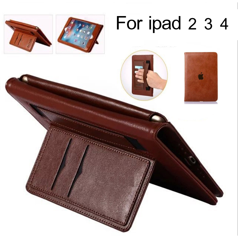 Case for Apple IPad 2 3 4 Multifunctional Stand Super Slim Leather Case 2017 new For ipad 2 3 4 Cover case 3 PCS Gifts apple ipad ipad 2 3 4 air2 min2i