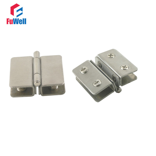 Aliexpress Buy 2pcs Stainless Steel Glass Clip Clamp Hinges