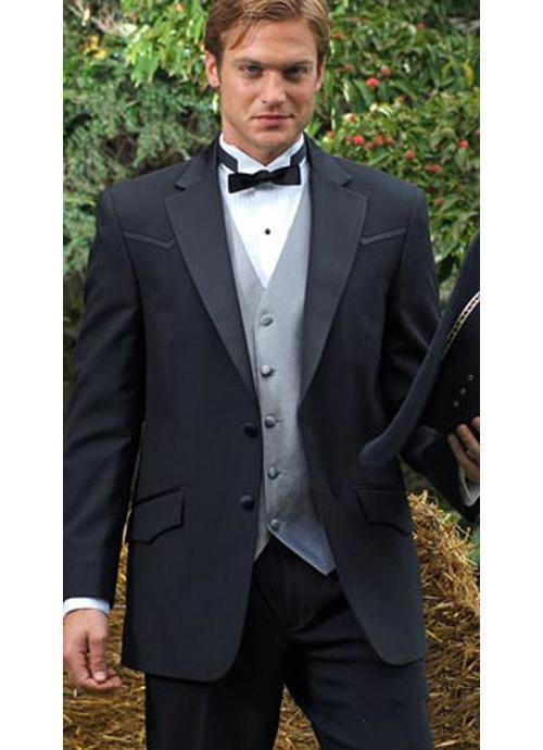 Customize Elegant Bridegrom Gray morning suit Wedding tuxedo for ...