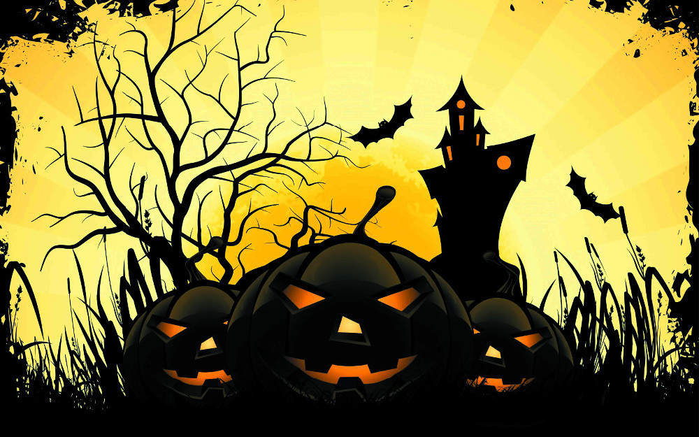 free shipping fashion bedroom decoration halloween party wallpaper custom poster well design wall sticker 0542 - Halloween Party Wallpaper