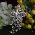 Prata strass estrela broche de flor broches para Bouquets de casamento fivela clipe cachecol Hijab pinos