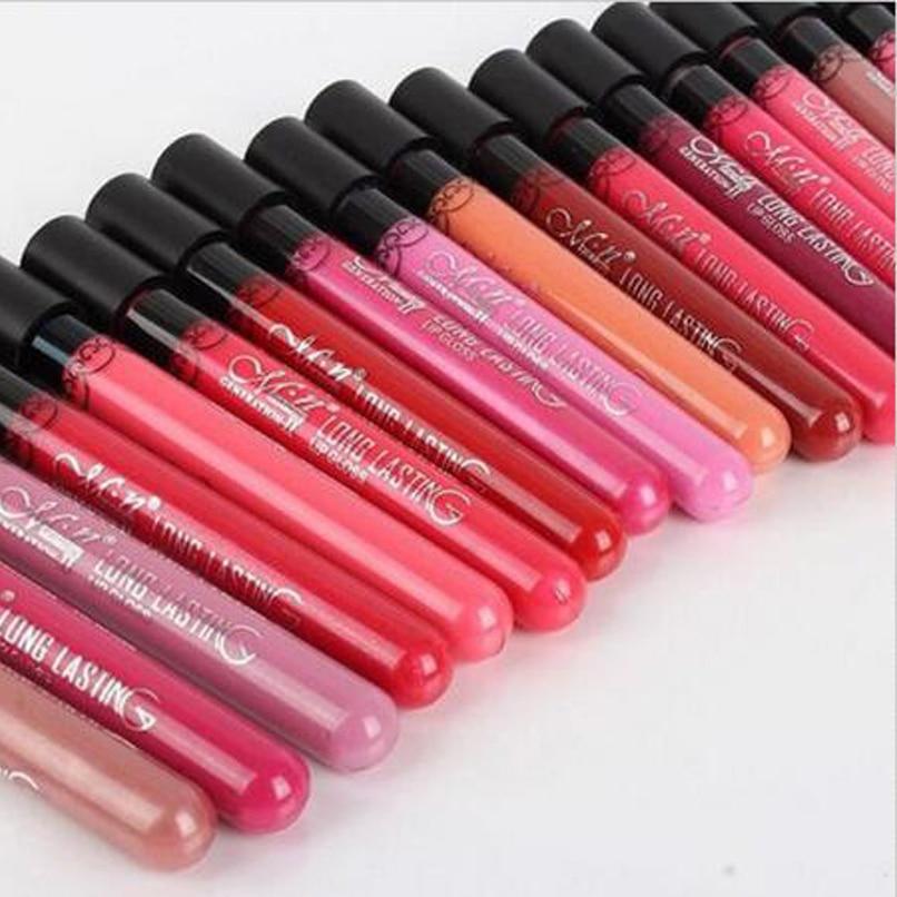 Venda quente 15 cores de veludo de alta qualidade à prova d ' água de longa duração batom Matte Lip Gloss Sexy batom