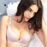 Mozhini Super Women Push Up Bra Sexy Double Push Up Bra Support Chest Wirefree Seamless Bra