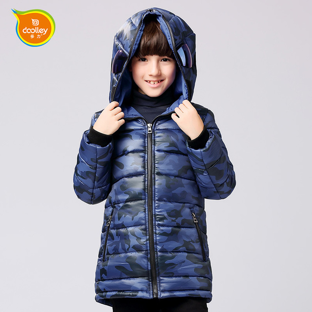 DOOLLEY Altman Coats Boy Cotton Long Outerwear 2016 New Arrival Children Autumn Winter Clothing Size 120-170 cm