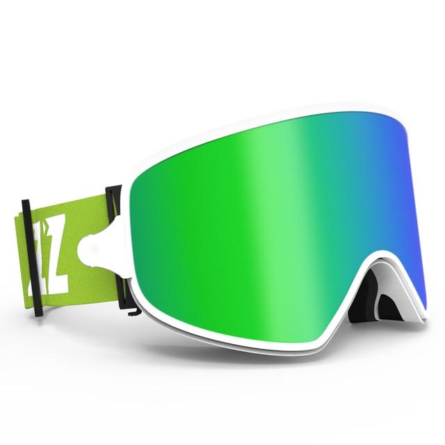 COPOZZ שימוש כפול סקי משקפי עם מגנטי מהיר שינוי 2 ב 1 עדשה אנטי ערפל UV400 הלילה סקי סנובורד משקפי עבור גברים & נשים