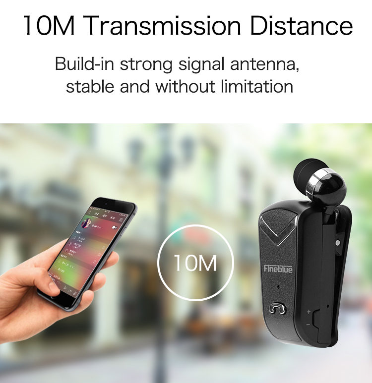 FineBlue F V2 Business Bluetooth Headset Wireless Earphone Car Wear Clip Bluetooth Phone Handsfree for iPhone Xiaomi Samsung in Bluetooth Earphones Headphones from Consumer Electronics
