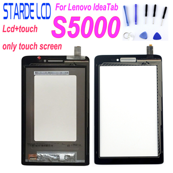 цена на New for Lenovo IdeaTab S5000 LCD Display  Touch Screen Digitizer Panel Front Touchscreen Assembly Replacement Glass Tablet