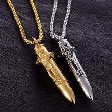 Ожерелье золотистого цвета для мужчин модное длинное ожерелье