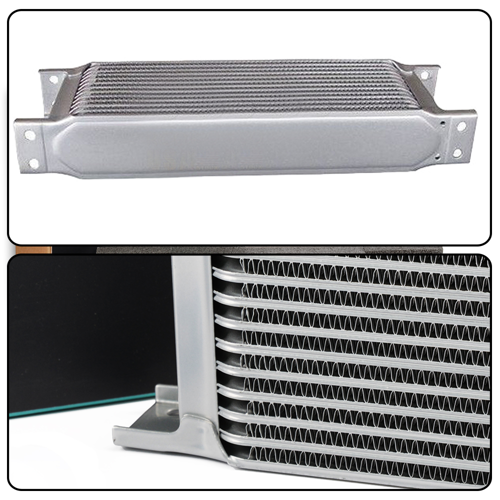 7 ROW ENGINE OIL COOLER KIT FOR BMW MINI COOPER S SUPERCHARGER R53 Silver