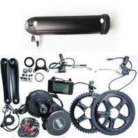 48 motor electric bike kit: 48V 15Ah samsung Li Ion bottle style e bike battery pack and 8fun 48V 500w bbs02 mid drive motor kit