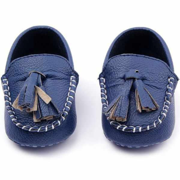ファッション幼児ローファーソフトフェイクレザーフラットベビーシューズ 0-12 M