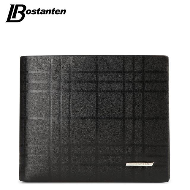 0e5f7fd49862ab BOSTANTEN Echtes Leder Männer Brieftasche Marke Luxus Brieftaschen Büro  Männlichen Reife Mann 2018 Kleinen Geldbeutel für männer