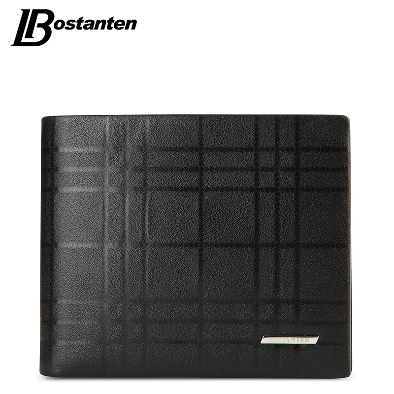 BOSTANTEN Genuine Leather Men Wallet Brand Luxury Wallets Office Male Wallet Mature Man Bifold Wallet 2018 Small Purse for male jmd genuine leather men wallet brand luxury super thin leather wallets office male short mature man bifold wallet small purse
