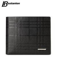 BOSTANTEN Genuine Leather Men Wallet Brand Luxury Wallets Office Male Wallet Mature Man Bifold Wallet 2018 Small Purse for male