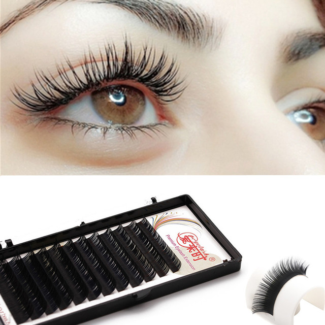 NEWCOME 3D False Mink Eyelash Extension,Volume Long Eyelash  Extensions,Natural Fake Individual Silk Korea Eyelash Extensions-in False  Eyelashes from