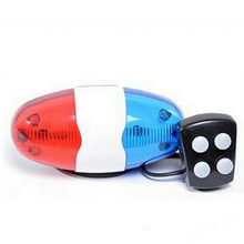 New Bicycle Bell 6LED 4Tone Horn for Bike Bells Police Cycling Car Light font b Electronic