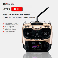 Original Radiolink AT9S R9DS Radio Remote Control System DSSS FHSS 2.4G 10CH Transmitter Receiver for RC Helicopter/RC BOAT
