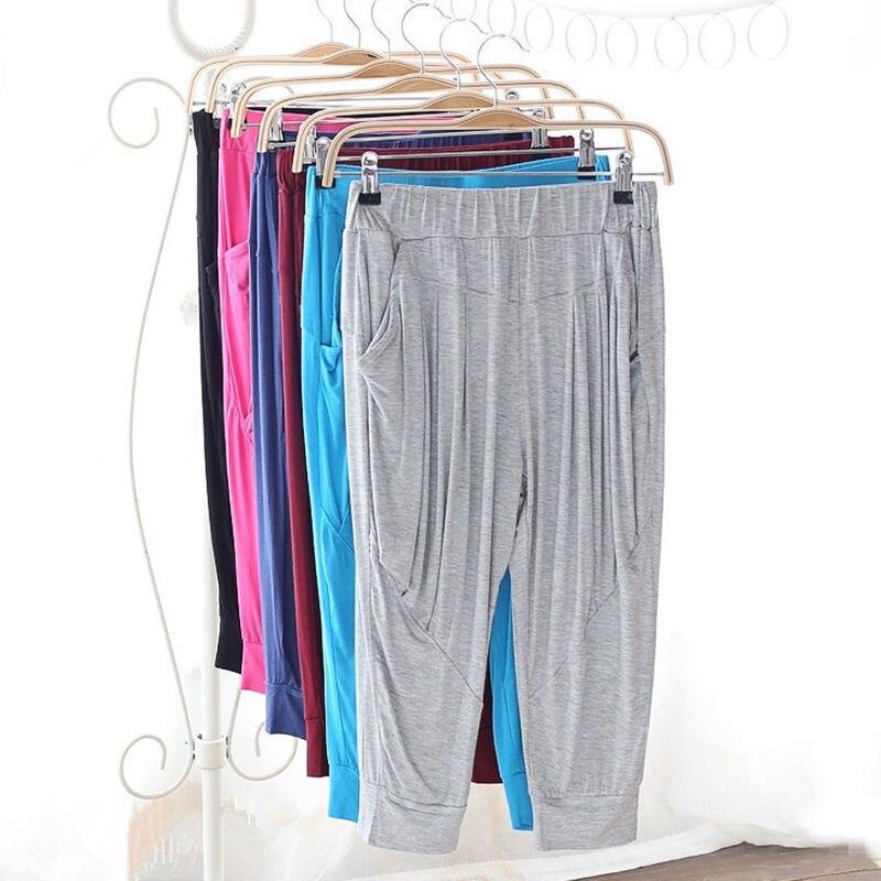 Plus Size Women Harem   Pants   Pockets Pantalon Femme Summer Short   Pants   Trousers Women   Capris   Sweatpants Soft Dance   Pants   C4169
