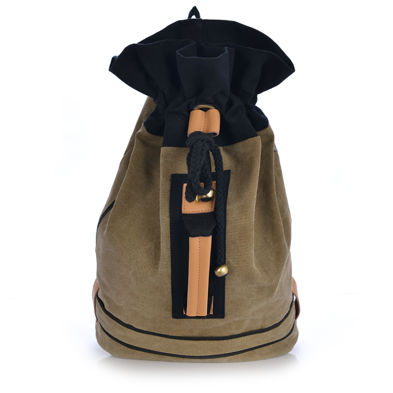 2016 vintage canvas bucket women backpack college student school book bag leisure backpack travel bags pretty style pure color canvas women backpack college student school book bag leisure backpack travel bag