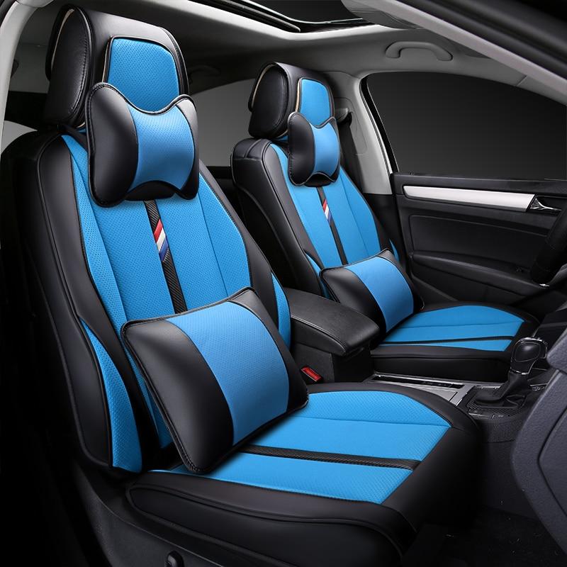 2018 5Seats( Front+Rear)car-styling Car Seat Covers For BMW e30 e34 e36 e39 e46 e60 e90 f10 f30 X1 x3 X4 x5 x6 car accessories 1pcs 82mm 74mm blue white emblem badge bonnet hood front rear trunk logo for bmw e46 e39 e38 e90 e60 z3 z4 x3 x5 x6 car styling