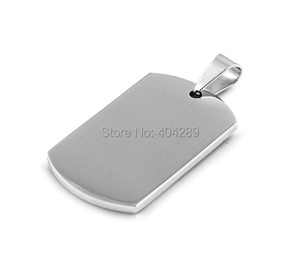 Wholesale 50pcs 5*2.8cm Super High Double Polished Stainless Steel Dog Tag Pendant,Military Blank Pendant,Pet Tag