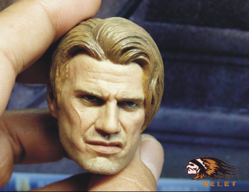 1:6 BELET BT008 Figure Accessory The Expendables Dolph Lundgren Head Sculpt Headplay Head Carving For HT DAM Figures Body Toys G