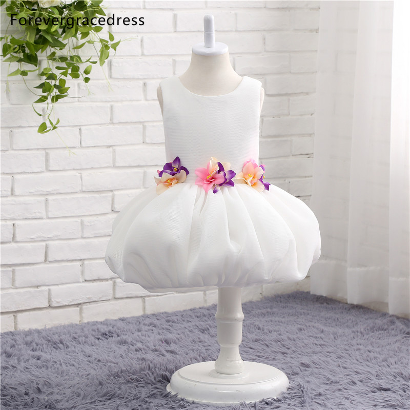 Forevergracedress Real Photos Pretty   Flower     Girl     Dress   Cute Sleeveless Zipper Back Kids Pageant Children Gown