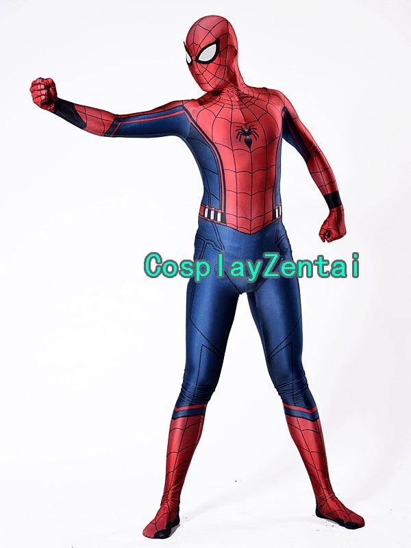 civil war concept Spiderman Kids Adult Civil War Spiderman Costume 3D Shade Spandex Cosplay Halloween Costume
