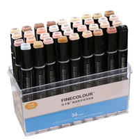 FINECOLOUR 12 24 36 Double Ended Soft Head Brush Markers Skin Tones Art Marker Set For