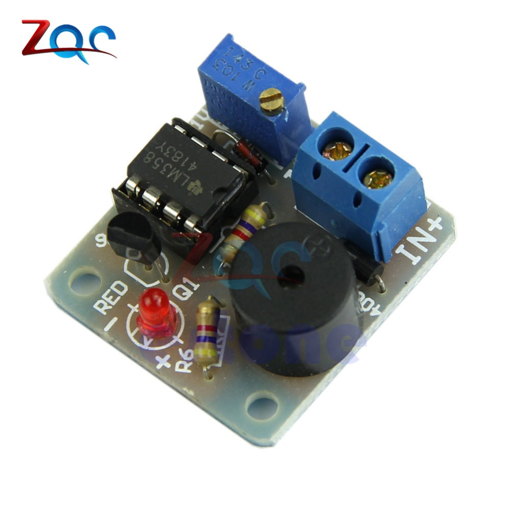 12v Lm358 Accumulator Sound Light Alarm Board Buzzer Prevent Over Above Indicates The Pins On Used In Circuit Below Dc Discharge Controller Module Without Overvoltage